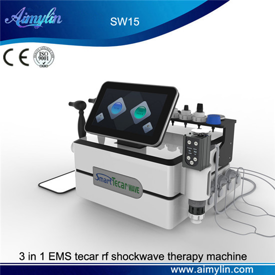 3 in 1 EMS tecar rf shockwave therapy machine SW15